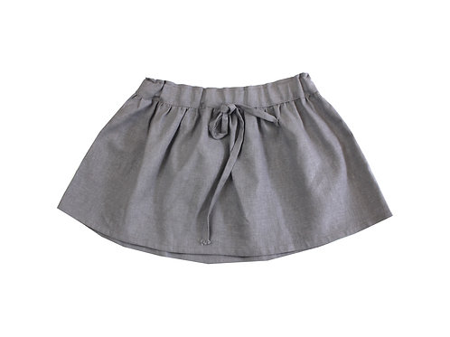 Falda gris lino