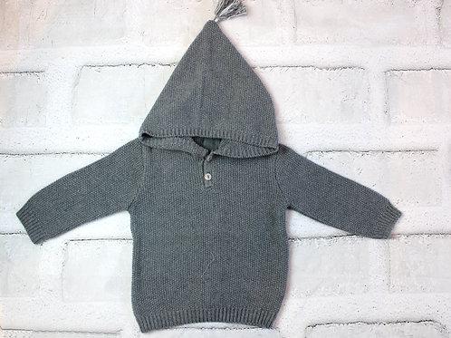 Jersey capucha gris