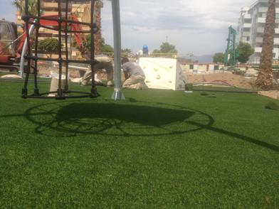 Cesped artificial parques infantiles