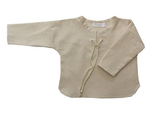 Camisa cruda beige