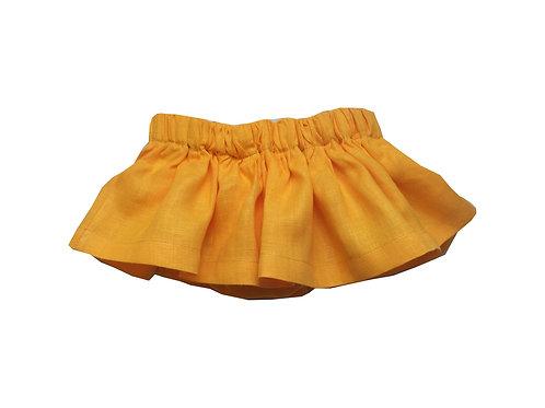 Falda Marta lino naranja