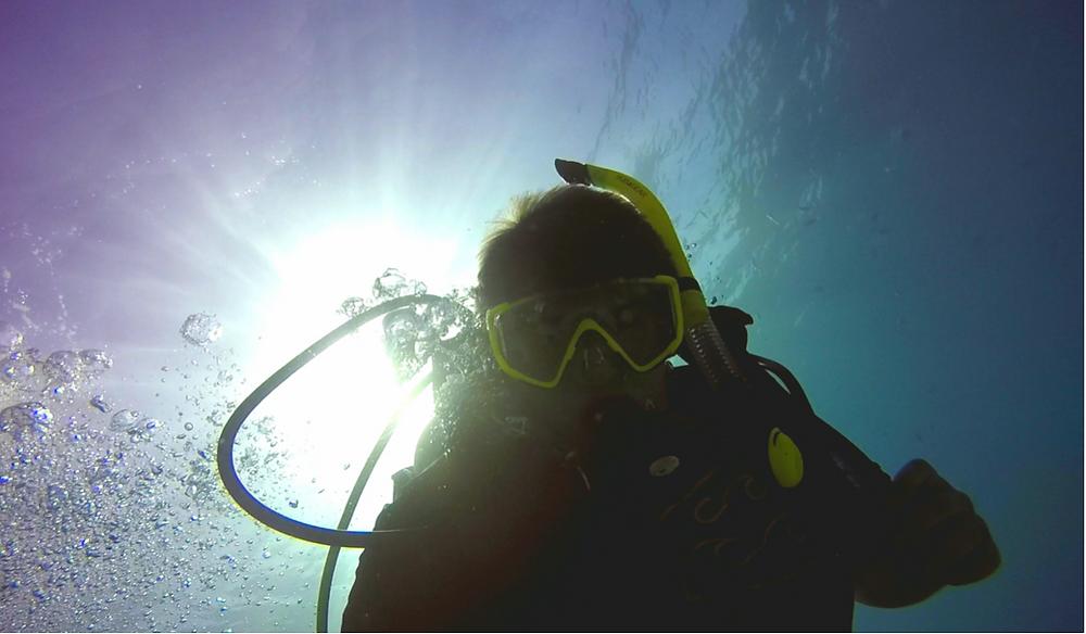 Jessica scuba diving