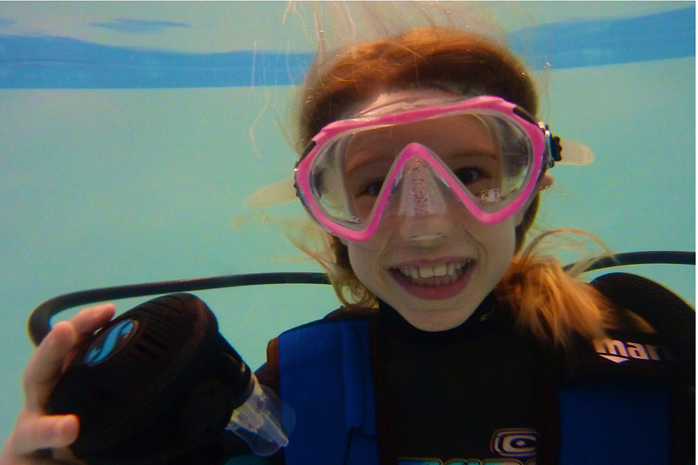 Sharks4Kids Junior Ambassador Charlotte Scuba Diving