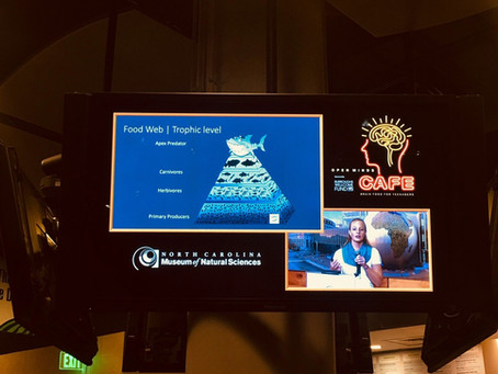 Ambassador Enie Hensel Speaks at NC Museum of Natural Science's Teen Science Cafe.