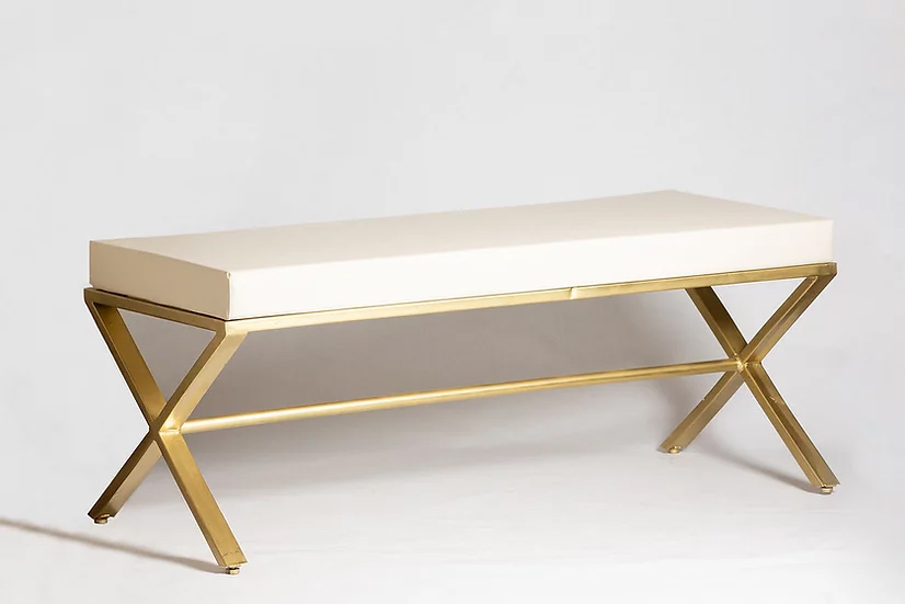 Gold Metal Bench