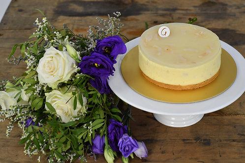 Omakase Fresh Floral & Lychee Rose Cheesecake