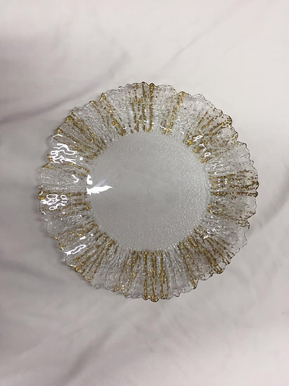 Gold Brushed Glass Plates