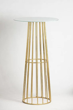 Gold Metal Cocktail Table