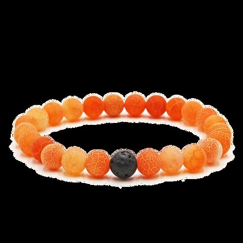 Orange Agate Diffuser Bracelet