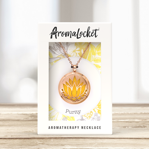Purity Diffuser Necklace (Rose Gold)