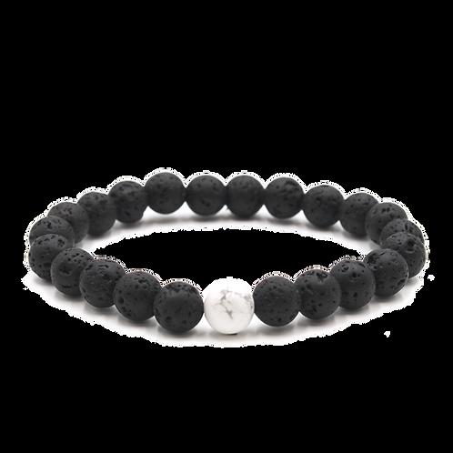 Lava+Howlite Diffuser Bracelet