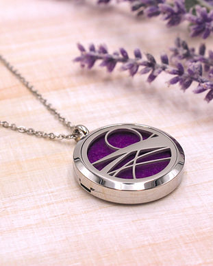 Stainless Steel AromaLocket Diffuser Necklace