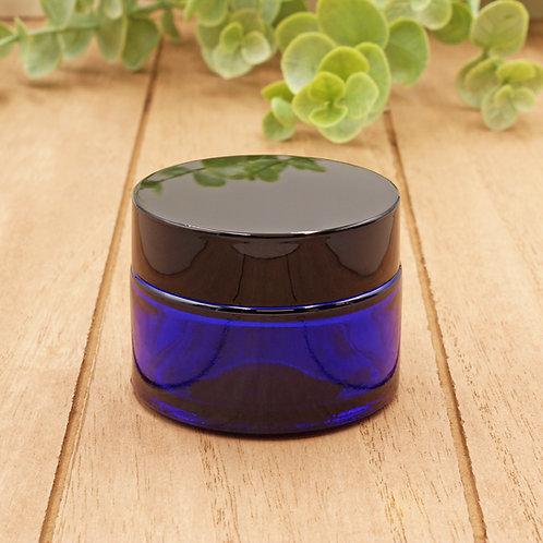 1oz Cobalt Glass Jar