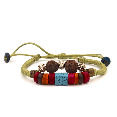 Wood Bead Diffuser Bracelet