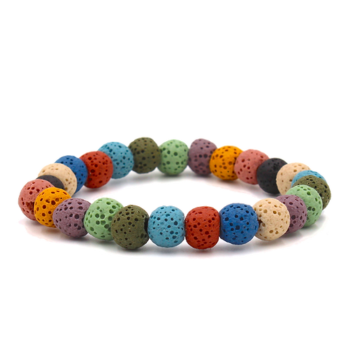 Multi-Color Lava Diffuser Bracelet