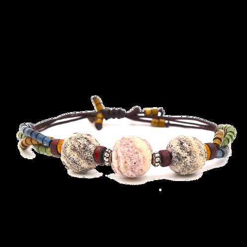 Large Lava Bead Diffuser Bracelet
