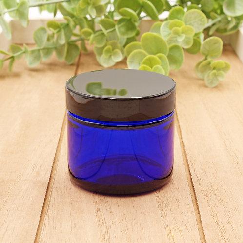 2oz Cobalt Glass Jar