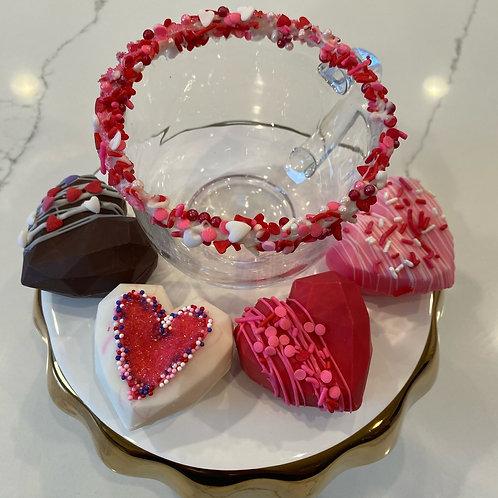 Heart Cocoa Bomb Set