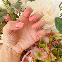 Coral Gel Manicure