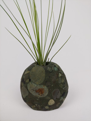 Conglomerate Beach Stone Vase