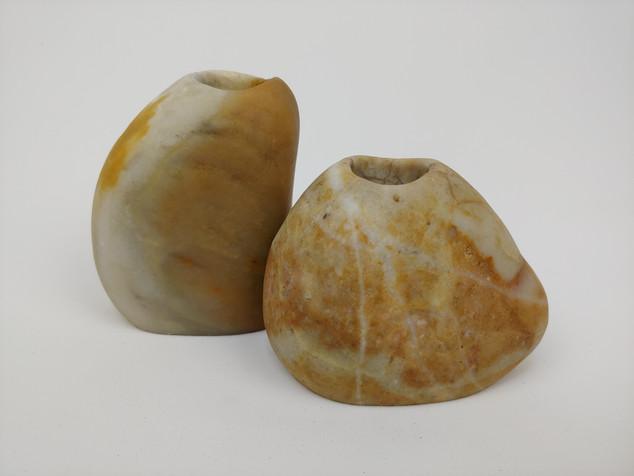 Set of Mini Stone Bud Vases