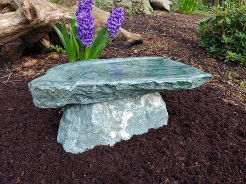 Two Piece Stone Bird Bath