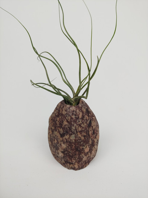 Raspberry and Pink Granite Vase