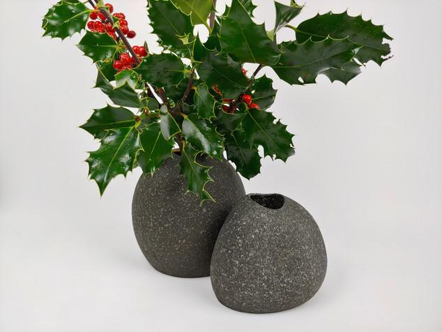 Pair of Beach Stone Vases