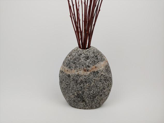 Granite Vase with Quartz Ring