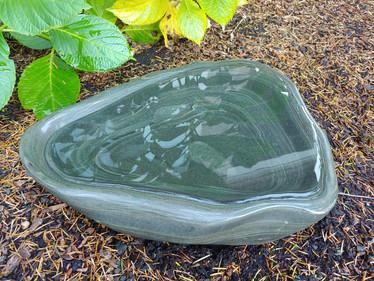 Large Banded Silt Stone Bird Bath