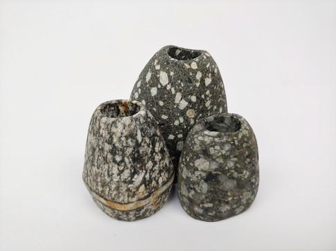 Trio of Mini Speckled Bud Vases