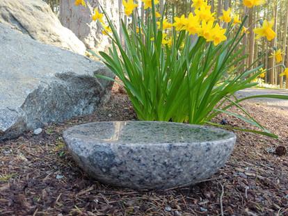 Granite Patio Bird Bath