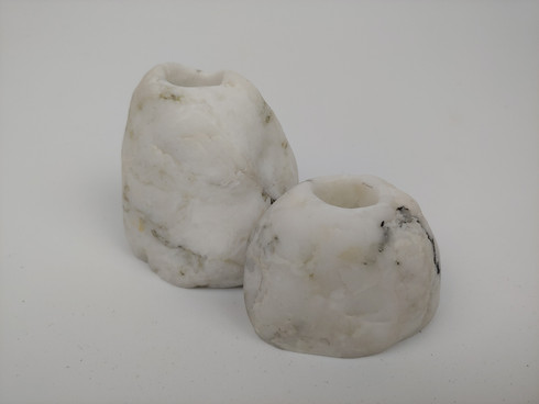 Set of Mini Quartz Stone Vases