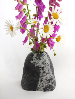 Black and White Natural Stone Vase