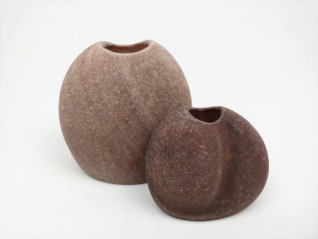 Set of Quartzite Vases