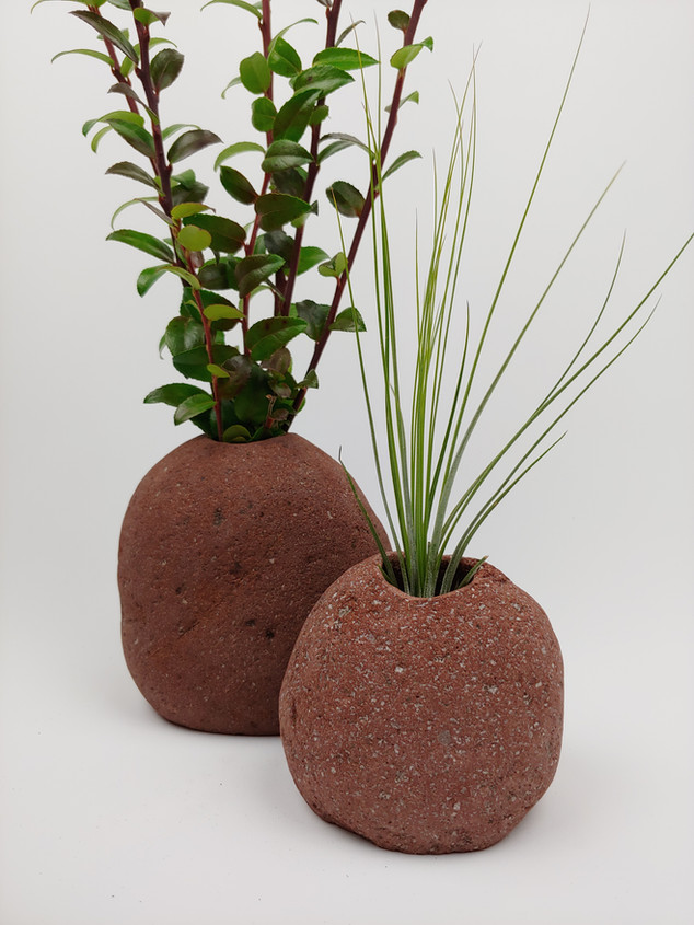 Set of Rustic Beach Stone Vases