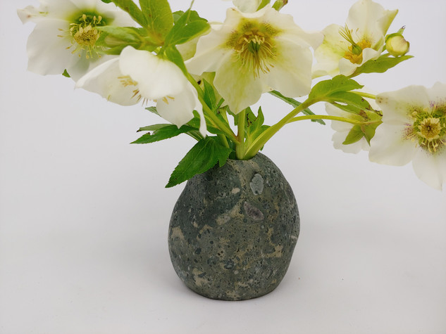 Small Conglomerate Stone Vase