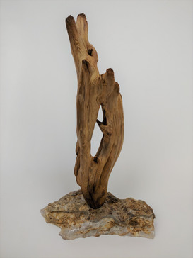 Driftwood and Stone Sculpture