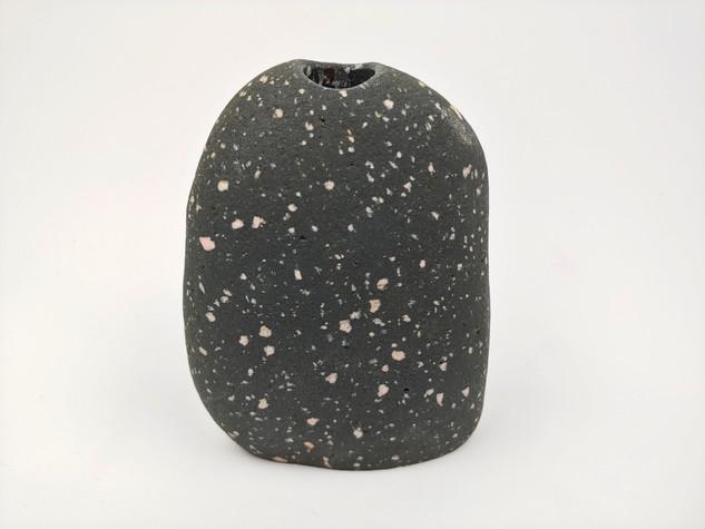 Speckled Beach Stone Vase