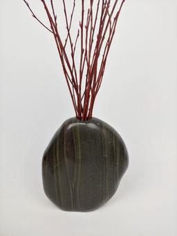 Polished River Stone Vase