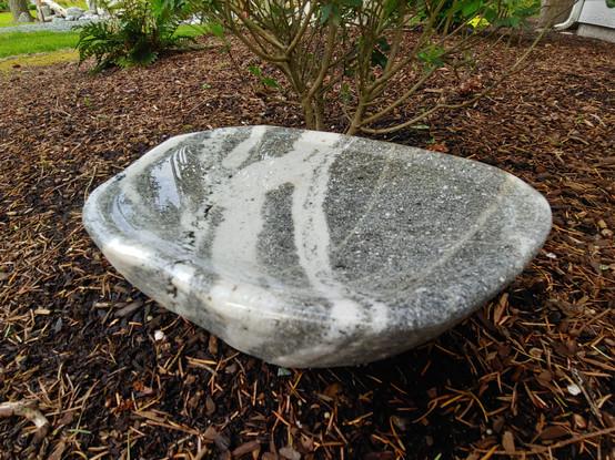 Granite Beach Stone Bird Bath