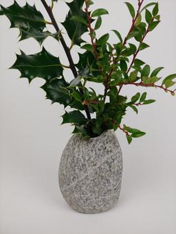 Granite Beach Rock Vase