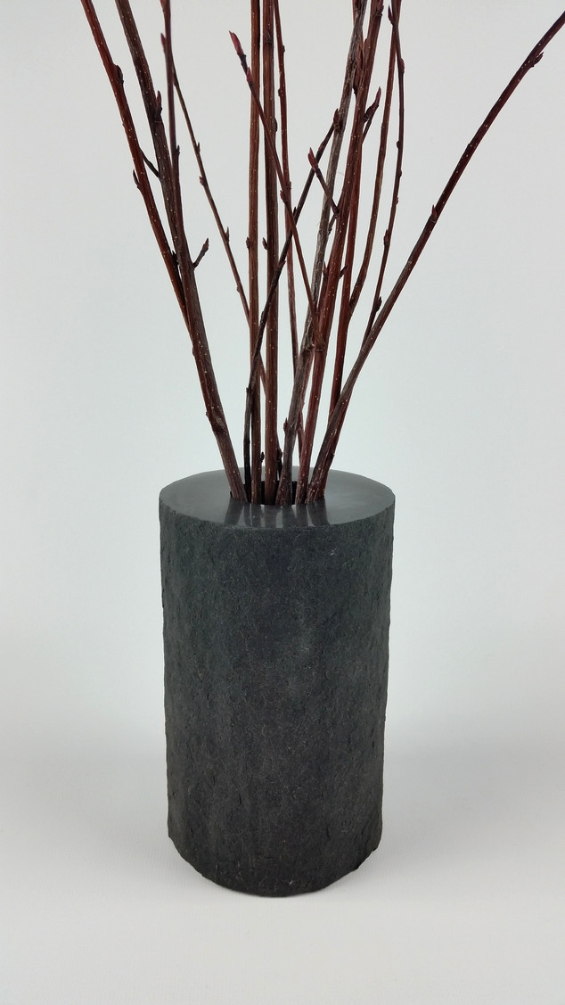 Basalt Vase with Flamed Texture