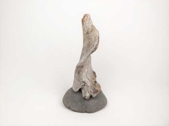 'Holdfast' Driftwood and Stone Sculpture