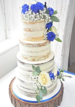 Beautiful Blue Wedding Cake Flowers