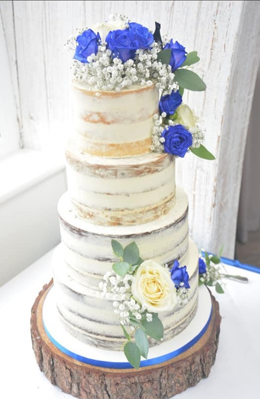 Beautiful Blue Wedding Cake Flowers