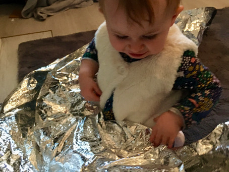 Simple Play Idea: Foil Blanket