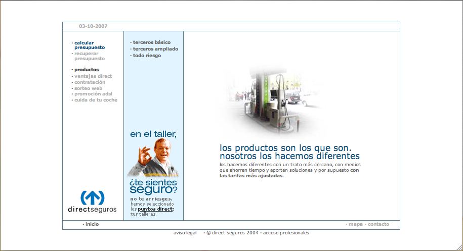 Direct Seguros: productos.