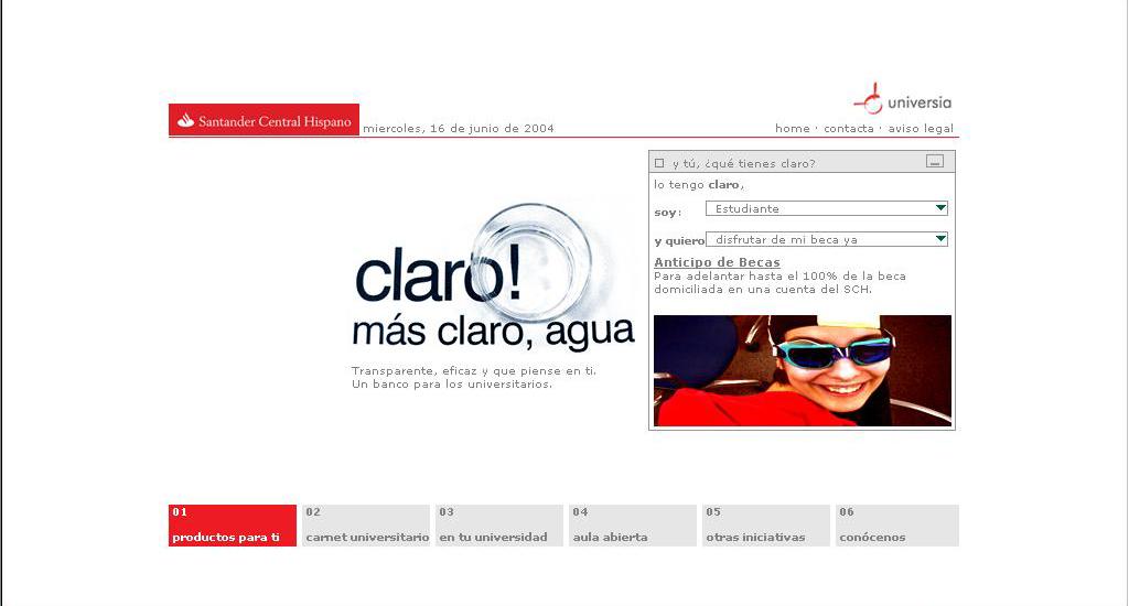 Santander Universidades: buscador.