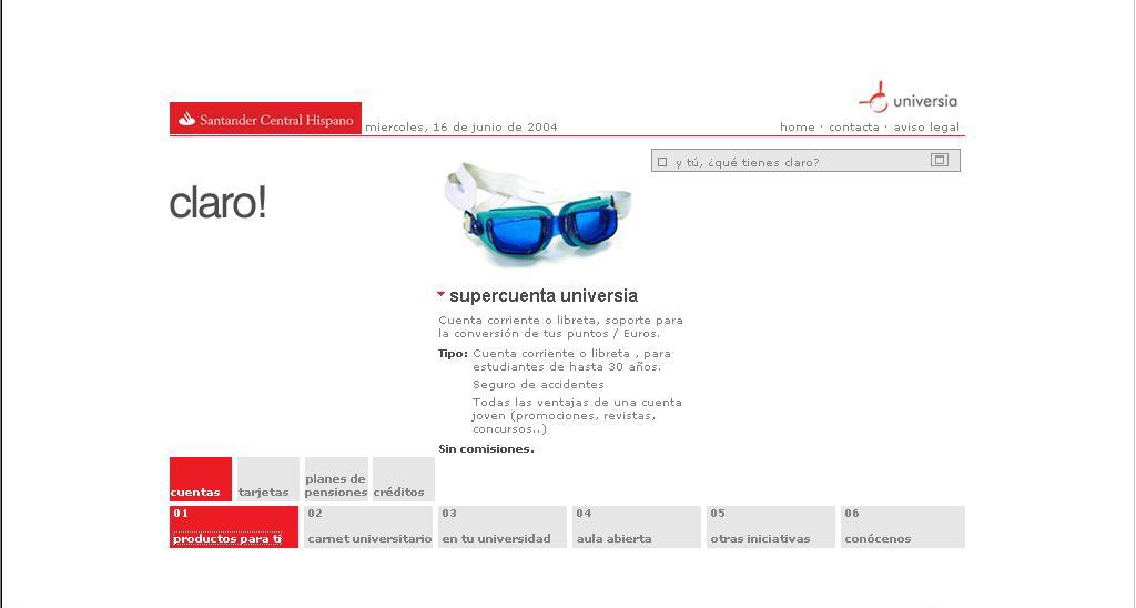 Santander Universidades: producto.